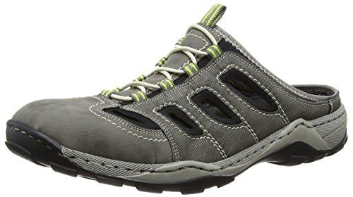 Rieker  08096 Mules & Clogs-Men, Sabots homme Gris - Grey (Cement/Cenere/Schwarz)