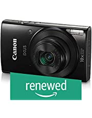 (Renewed) Canon IXUS 190 20 MP Digital Camera with 10x Optical Zoom, Memory Card And Camera Case (Black)