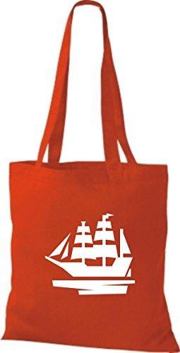JUTA Borsa di stoffa barca a vela, Stivale, SKIPPER, CAPITANO Rosso