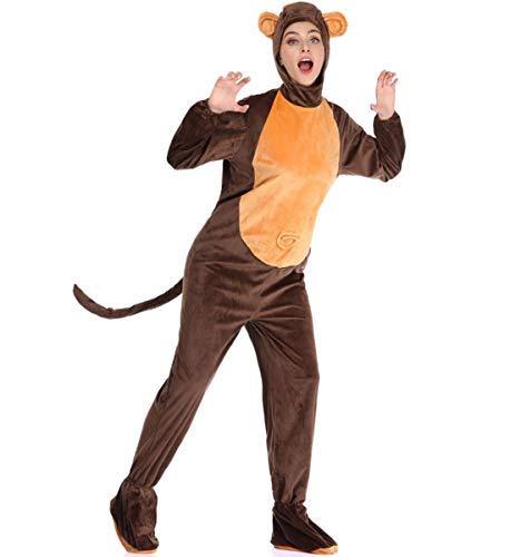 Igel Einfach Kostüm - LOBTY Erwachsene Unisex Pyjamas Kostüm Jumpsuit Tier Schlafanzug Fasching Cosplay Karneval
