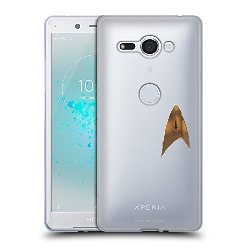 (Head Case Designs Offizielle Star Trek Discovery Uniform Badge Logo Soft Gel Hülle für Sony Xperia XZ2 Compact)