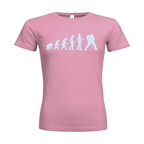 MDMA Frauen T-Shirt Classic Evolutionstheorie Eishockey N14-mdma-ftc00369-336 Textil pacificpink / Motiv eisblau / Gr. XXL (Eishockey-kanada-bekleidung)