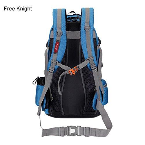 Borsa Viaggio 50L morbido esterno in nylon impermeabile borsa unisex borsa arrampicata 35× 20× 50cm, ArmyGreen Blue