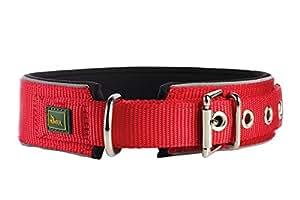 Hunter Hundehalsband Neopren Reflect, Größe 55, rot/schwarz