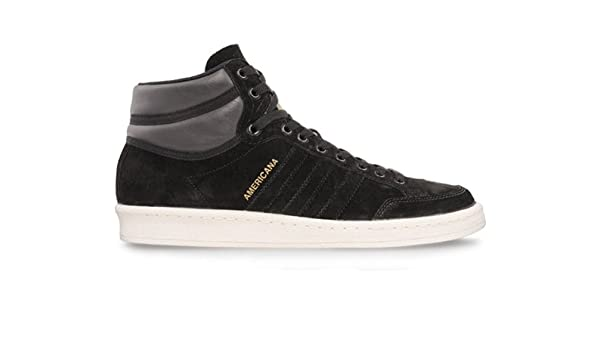 best website 02695 060ae adidas Mens AMERICANA HI 88 Hi-Top Sneakers Black Schwarz (Schwarz-Weiß)  Size 43 13 Amazon.co.uk Shoes  Bags