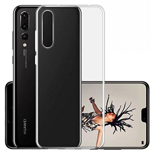 Coque Huawei P20 Pro, Vigeer Crystal Clear Soft TPU Bumper [Technologie d'absorption de choc] Bezels surélevés Housse de protection pour Coque Huawei P20 Pro – Transparent