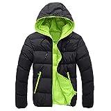 Herren Warme Winterjacke mit Kapuze stylischer Warme Daunenjacke Basic Winterjacke Steppjacke Parka Jacke von Innerternet