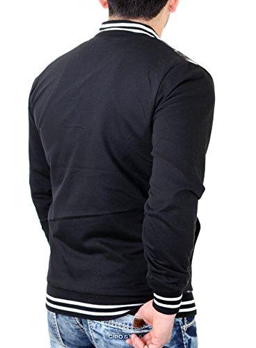 Reslad Sweatjacke Herren Front Full Print Zipper-Jacke RS-8000AB PALMS Schwarz