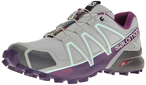Salomon Speedcross 4 W, Scarpe da Trail Running Donna, Quarry/Acai/Fair Aqua, 40 2/3 EU