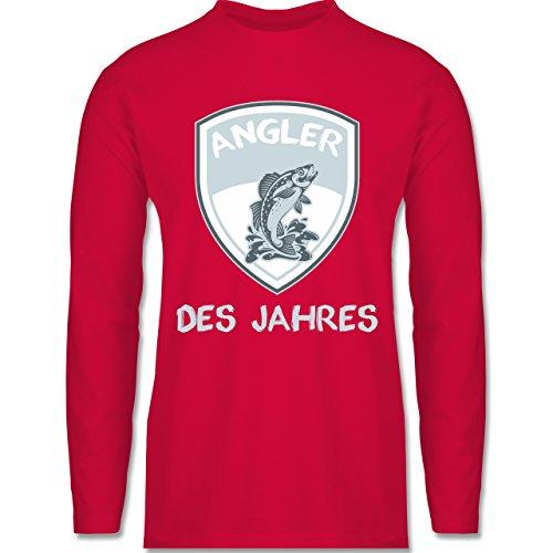 Shirtracer Angeln - Angler Des Jahres - Herren Langarmshirt Rot