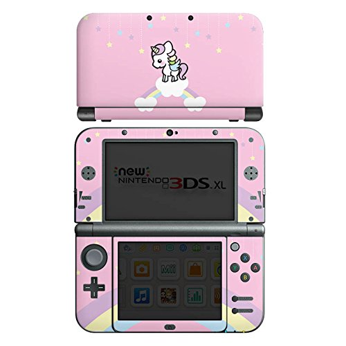 Nintendo New 3DS XL Case Skin Sticker aus Vinyl-Folie Aufkleber Little Unicorn kleines Einhorn Kinder