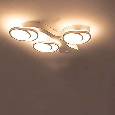 Luxury Modern Ceiling Lamp Contemporary LED Simple Horseshoe Modeling Fixture Baking Paint Finish 3000K IP20 230V 32W 3-Light for Restaurants and Bedrooms