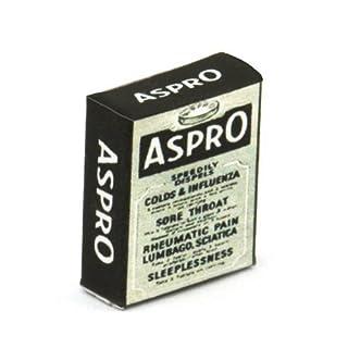 MyTinyWorld 2 x Puppenhaus Miniatur Aspro auflösbar Tablet Töpfe