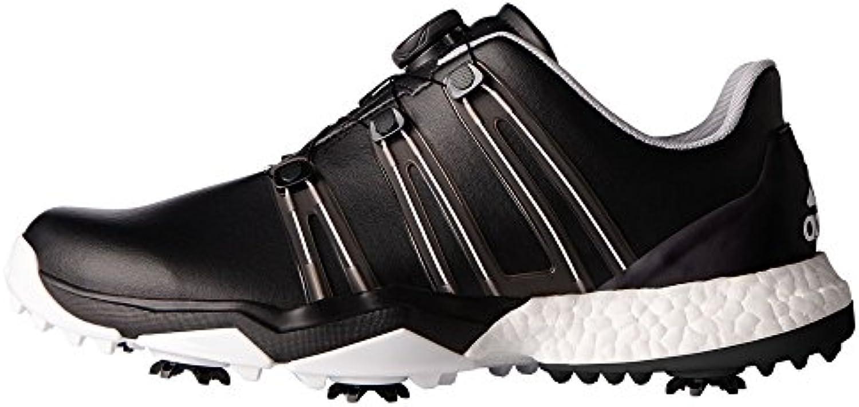 Adidas Powerband Boa Boost WD, Zapatos de Golf para Hombre, Negro/Blanco, 44 EU