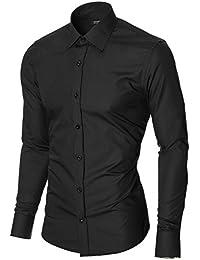 MODERNO Herren Hemden Slim Fit Business Langarm (MOD1426LS)