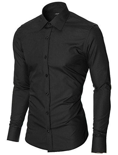 MODERNO Camicia Classico Uomo (MOD1426LS) Nero
