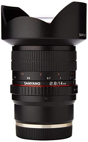 Samyang 14mm F2.8 ED AS IF UMC MILC Obiettivo Super-grandangolo MILC, 14/10, 2.8 - 22, Manuale, Sony E, Nero