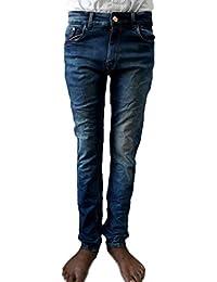 Style Rocks Men's Casual Cotton Regular Fit Jeans (SRJ-05_Blue)
