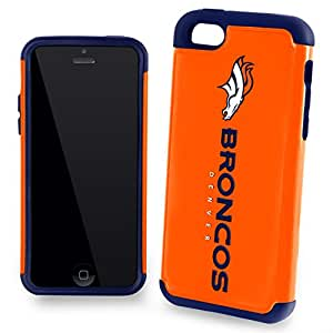 Forever Collectibles Dual Hybrid 2-Piece TPU Case for iPhone 5c - Retail Packaging - Denver Broncos