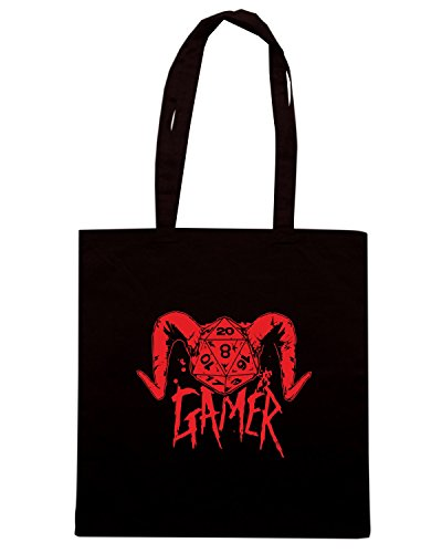 T-Shirtshock - Borsa Shopping FUN0087 04 18 2013 Gamer Dice Demon T SHIRT det Nero