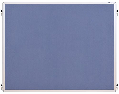 Betzold 76744 - Stellwand Einhängetafeln, Stoffbezug - Moderationstafel, mobile Trennwand, Pinnwand, Grau