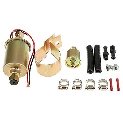 MagiDeal Automotive Universal Elektrische Kraftstoffpumpe Mit Installation Kit