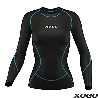 XOGO Womens Compression Base layers for All Season - Long Sleeve Compression Tops and Legging – Sports Base layers for Women - For Running, Cycling and Yoga – UV Sun Protection and 4 Way Stretch 3