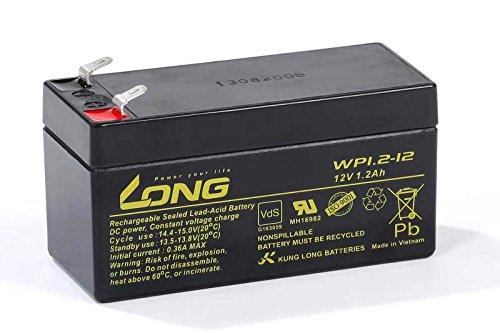 Akku Kung Long WP1.2-12 12V 1,2Ah AGM Batterie Blei wartungsfrei VDS battery