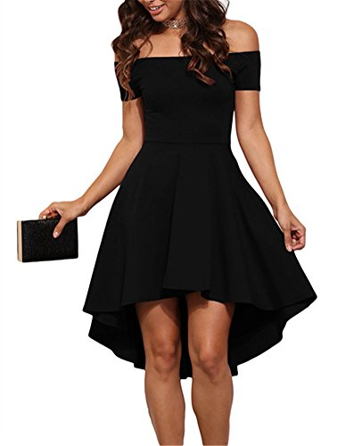 Cfanny-Womens-Off-Shoulder-Ruched-All-The-Rage-Skater-Dress