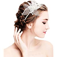 Rhinestone Bridal Hair Comb – Bridal Headband Wedding Hair Clips Pearls Wedding Crystal Rhinestone Pearl Wedding Brauthochzeits Headband Hair Band