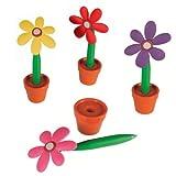 Un stylo fleur - Couleur aléatoire : violet, rose, rouge ou rose - Stylo fantaisie - Pen flower
