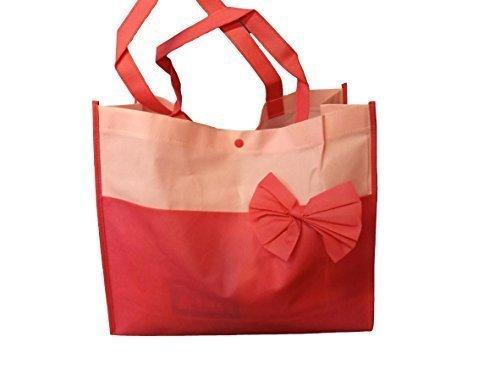Violett, rosa oder Orange zweiton stoff damen, kinder, mittagessen einkaufstasche, handtasche mit schleife von Fett-Catz-Kopie-catz Große Rosa Bogen tasche