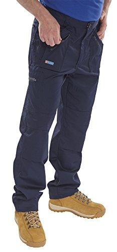 Click Action pantaloni da lavoro blu navy 36T