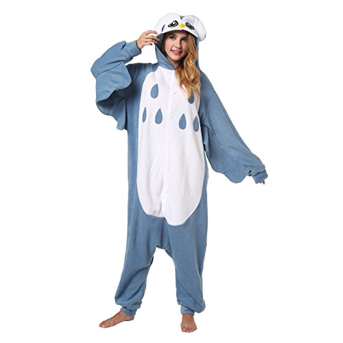 Katara 1744 -Eule Kostüm-Anzug Onesie/Jumpsuit Einteiler Body für Erwachsene Damen Herren als Pyjama oder Schlafanzug Unisex - viele verschiedene Tiere (Eule Kostüm Erwachsene)