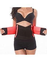 Tencoz Mujer Cintura Entrenador, Fajas Reductoras Adelgazantes Cinturón Abdominal Cinturón para el Sudor Mujer Cintura