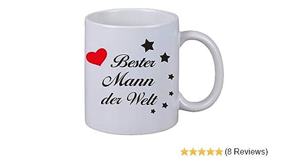 """Kaffee Tasse Becher /""""Bester Mann der Welt/"""" Geschenk Geburtstag Liebe Ehemann"""
