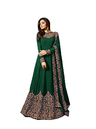 Sretan Party Wear Designer Gown for women (Green)