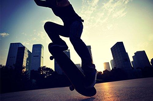 Skater Skateboard XXL Wandbild Kunstdruck Foto Poster P0701 Größe 120 cm x 80 cm, Größe 120 cm x 80 cm