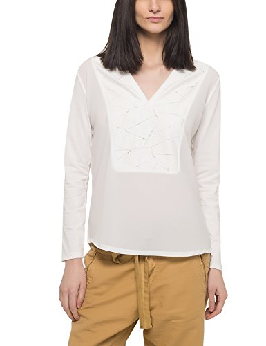 Garcia Jeans Women's Women's Longsleeve White T-Shirt 100% Cotton White