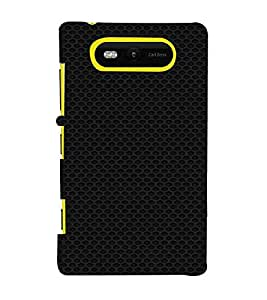 Dotted Pattern, Black, Dotted Pattern, Amazing Pattern, Printed Designer Back Case Cover for Nokia Lumia 820