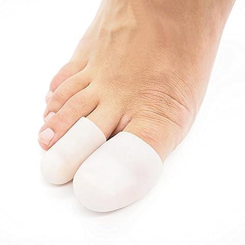 P2L - Set de 5 Protection pour orteils en silicone avec protège-doigts