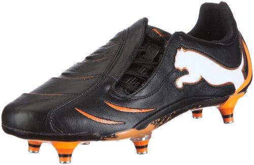 Puma  PowerCat 1.10 SG chaussures de sport football pour homme Nero (Schwarz/black-white-fluo orange)