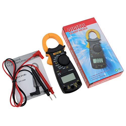 Ac Clam (MMLC Digital LCD Automatic AC/DC Electronic Tester Portable Handheld Clamp Volt Meter Multimeter 600V DT3266L Current Resistance Voltage (A))