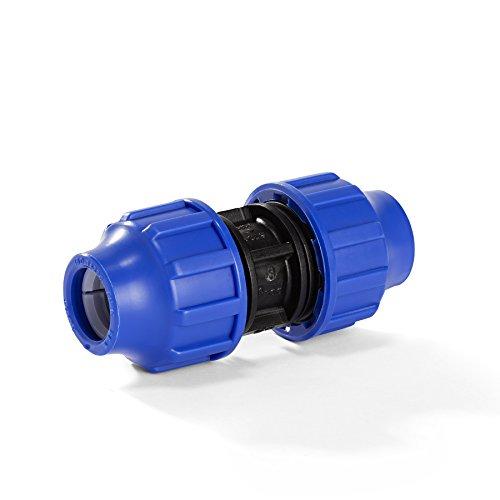 H2O-Flex PP-Fitting, Klemmverbinder - Kupplung für PE-Rohr, 32 mm, DVGW (Pp-rohr)