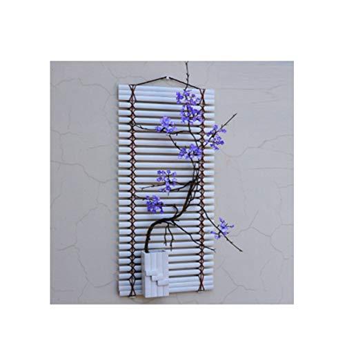 Yougou01 decorazioni murali, stile minimalista cinese, soggiorno camera da letto, sala da pranzo, tv a parete, (base bianca, cartamo pavimento bianco, pavimento bianco fiore rosa),design raffinato