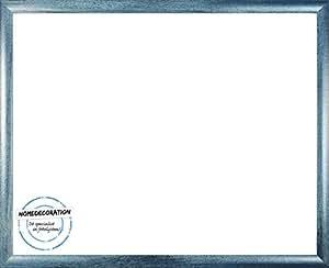 Palma Bilderrahmen Posterrahmen 29x86 cm 86x29 cm Farbwahl Schmale Profil Leiste hier Hellblau gewischt und Antireflex spiegelfreies Acrylglas