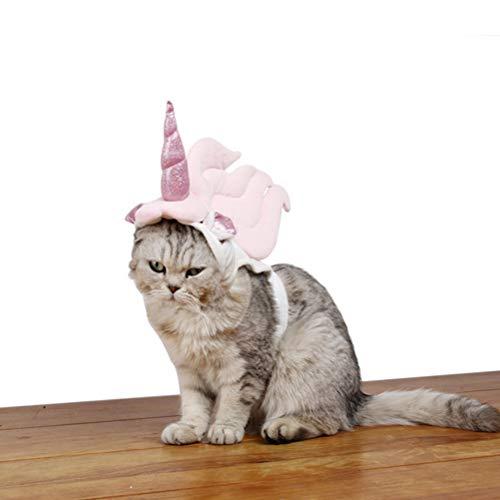 POPETPOP Katzen Kostüm für Katzen Only-Unicorn Kostüm für Katzen, Horn Kopfschmuck Birthday Party Festival Supplies Halloween Pet Kostüm Zubehör für Cat-Small (Unicorn Kopfschmuck Kostüm)