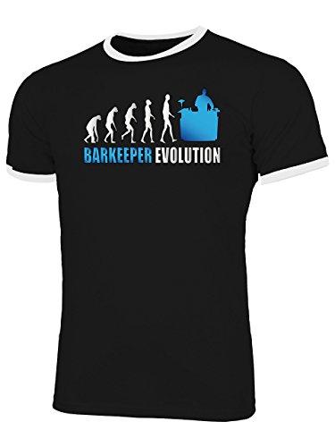 Golebros Barkeeper Evolution 525 Herren Ringer T-Shirt (HR=Schwarz-Weiss/AD=Blau) Gr. L