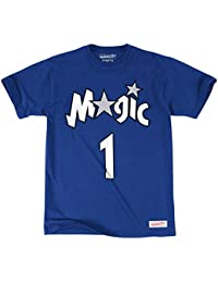 Mitchell & Ness - T-Shirt NBA Tracy Mcgrady Orlando Magic Mitchell & ness name & numbers