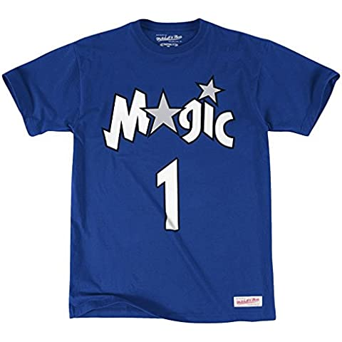 Mitchell & Ness – Camiseta de la NBA Tracy McGrady Orlando Magic Mitchell & Ness nombre & número,